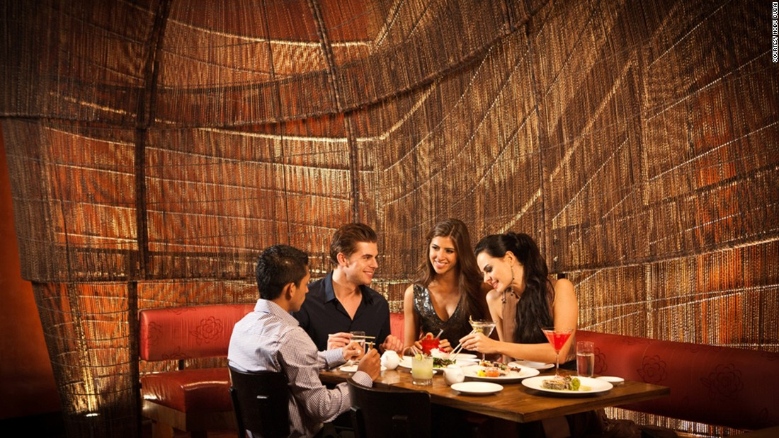 One of Dubai's top three Japanese restaurants, Nobu wins thanks to its location in Dubai's castle-shaped Atlantis hotel on the city's man-made Palm Island.