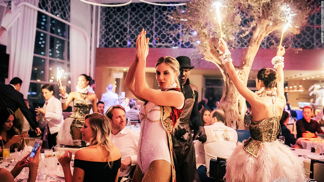 Absolutely everything is meant to catch the eye at the Billionaire Mansion Dubai. As the evening moves on, diners should be prepared for sparkler-equipped dancers or bull-masked hoverboard-riding staff to wind between tables.