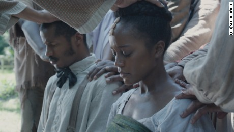 "Nate Parker and Aja Naomi King star in ""The Birth of a Nation."""