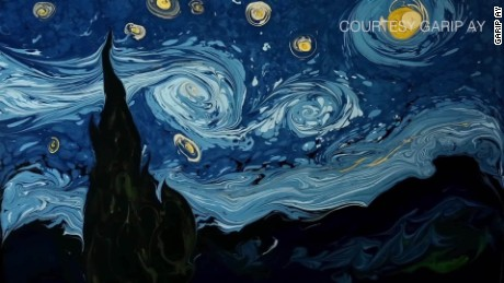 spc van gogh painting recreated on water garip ay_00005701