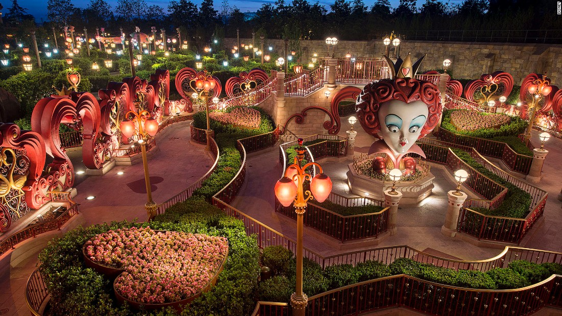 "Alice in Wonderland Maze is the first attraction at a Disney park to focus on Tim Burton's ""Alice in Wonderland"" film. Guests have to make their way through sculpted hedges, stone garden walls, giant flowers and sculptures to get to the Mad Hatter's Tea Party."