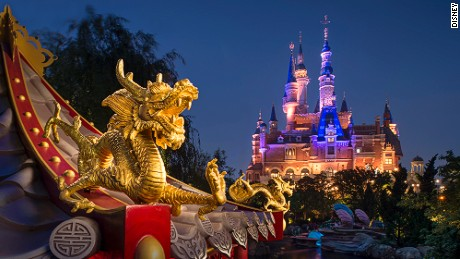 "This golden dragon is found in the  Voyage to the Crystal Grotto ride's ""Mulan"" scene."