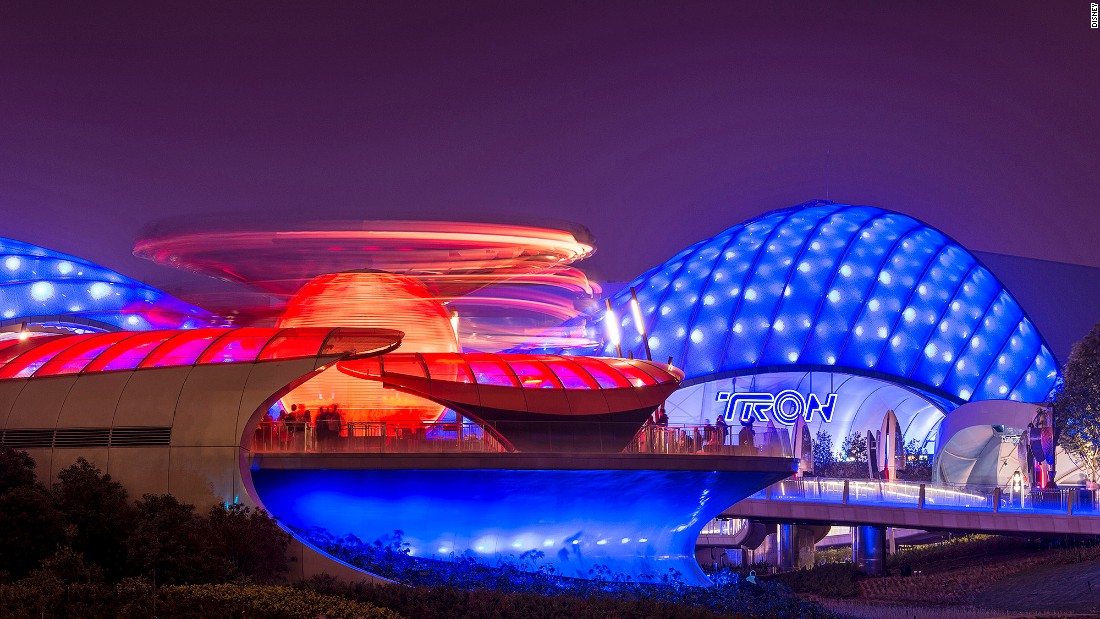 Shanghai Disneyland's futuristic Tomorrowland features five different attractions.
