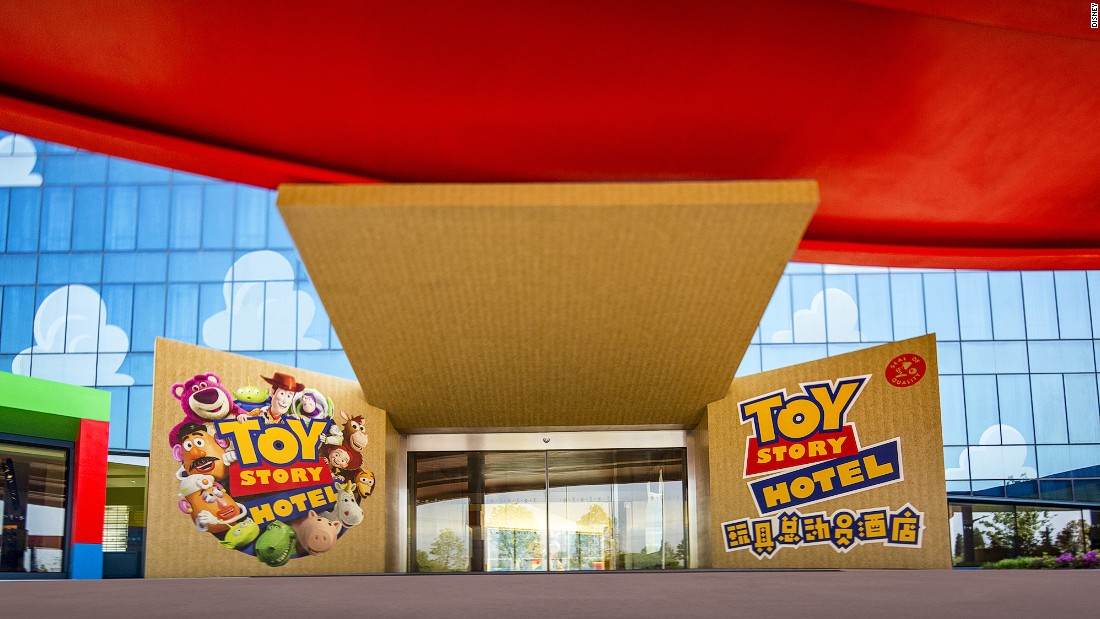 The Toy Story Hotel is made up of 800 themed rooms and plenty of elements from the films.