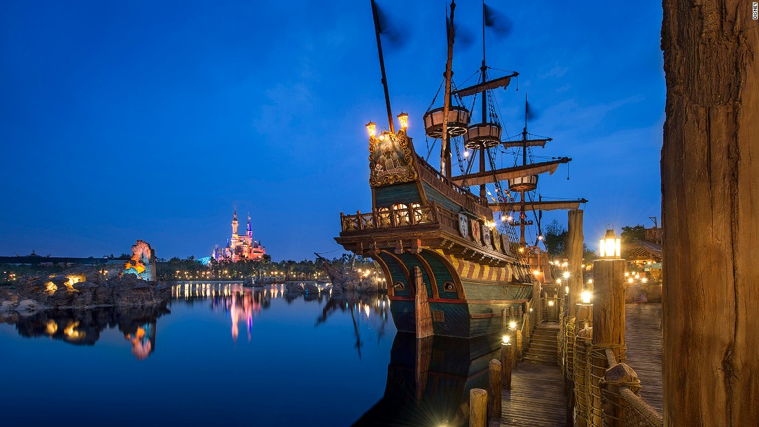 Located inside Disneyland, Treasure Cove features four attractions, including the Pirates of the Caribbean ride.