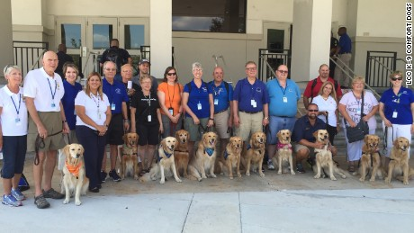 LCC K-9 Comfort Dogs came from Indiana, Iowa, Illinois, Tennessee, Nebraska, Texas and South Carolina.