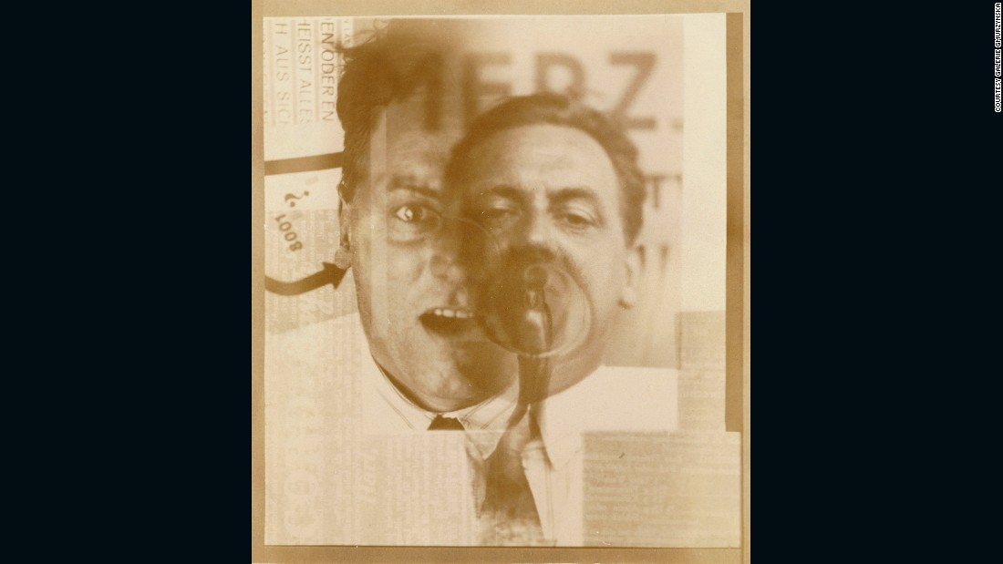 In 1922 Schwitters met El Lissitzky (1890-1941), an important figure in the Russian avant-garde whose innovative techniques influenced much of 20th century graphic design. For this fragmented double portrait of Schwitters made in 1924/5, El Lissitzky layered up photographic negatives during the printing process.