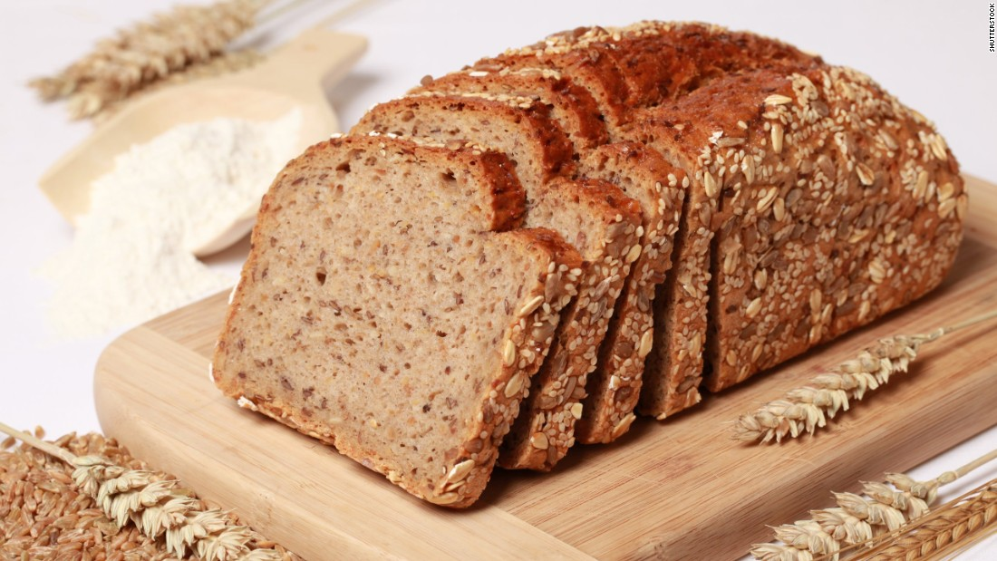 "Did you know that the terms ""whole grain"" and ""multigrain"" aren't interchangeable? Whole grain contains all parts of the wheat grain kernel -- the bran, germ and endosperm -- while multigrain means the bread contains more than one type of grain, but none of them may be whole. Always choose whole grain, if you can."