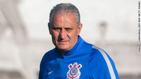 Former Corinthians coach Adenor Leonardo Bacchi, known as Tite, participates in a training session at the team headquarters in Sao Paulo, Brazil, 15 June 2016.  Tite was designed as new coach of Brazil's national team to replace Dunga. / AFP / Miguel Schincariol        (Photo credit should read MIGUEL SCHINCARIOL/AFP/Getty Images)