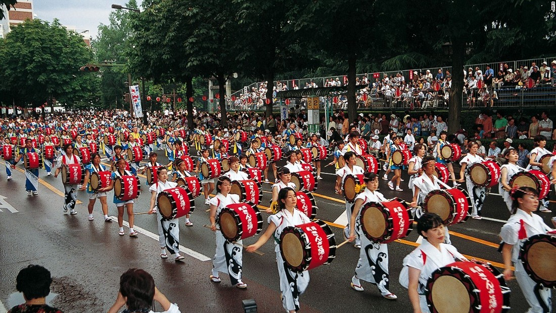 This festival is listed as the world's largest taiko drum ensemble in Guinness World Records.