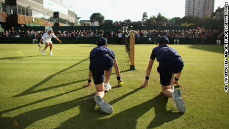 Boot camp toughens up Wimbledon ball kids