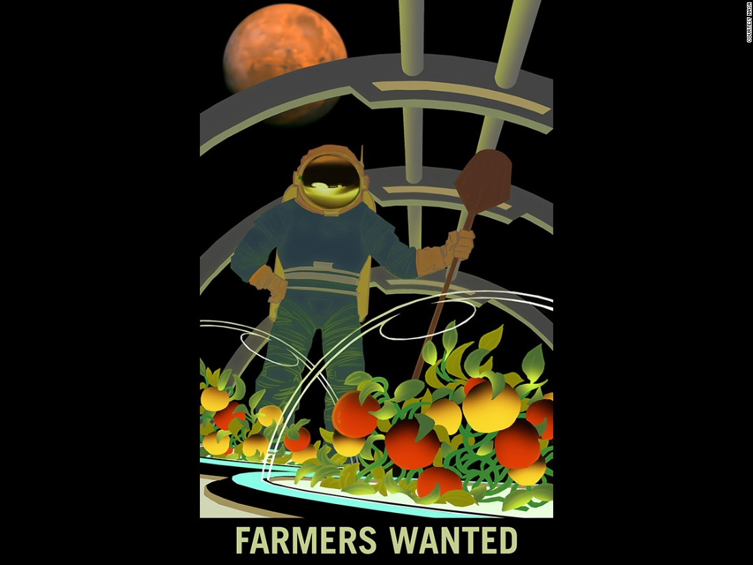 "Just like Matt Damon in ""The Martian"", NASA believes it will one day need scientists and agronomists to find new ways of growing fresh food on the planet. Among other challenges to farming, Mars has a very different atmosphere to earth and is far colder."