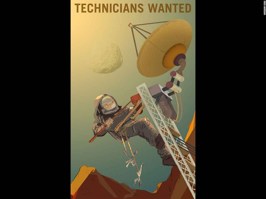 """""""Whether repairing an antenna in the extreme environment of Mars, or setting up an outpost on the moon Phobos, having the skills and desire to dare mighty things is all you need,"""" NASA says of the engineers it may one day recruit to help with its 'Journey To Mars.'"""
