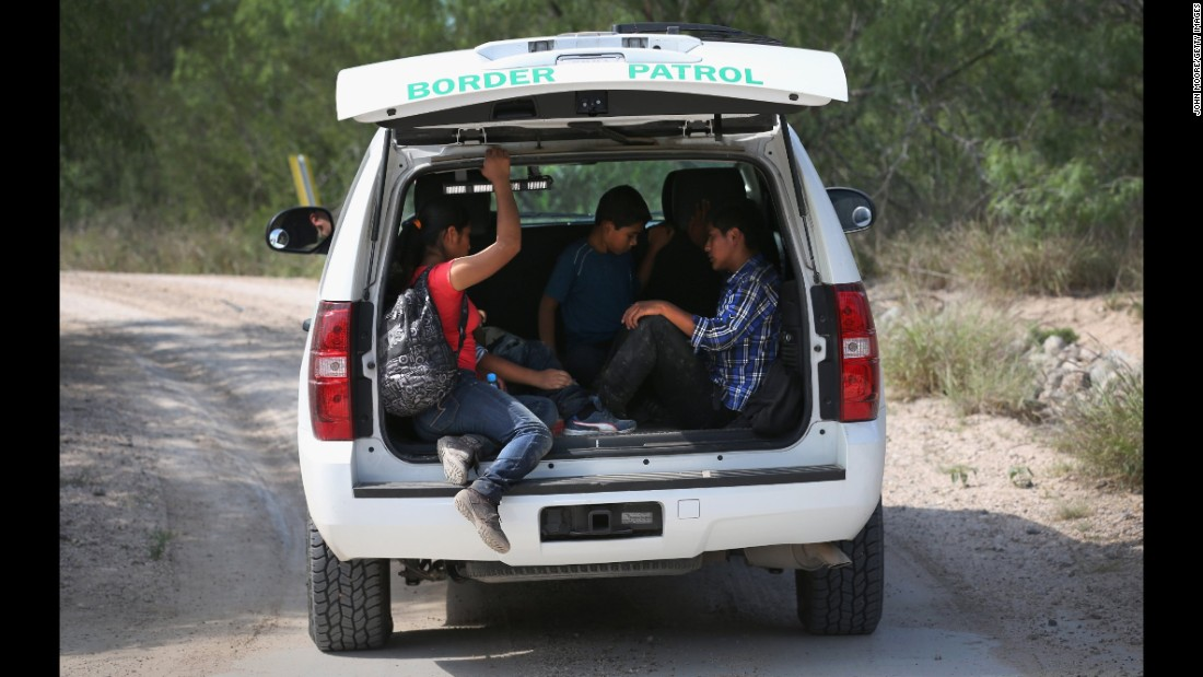 The U.S. Border Patrol transports Central American children for processing after they crossed into the United States from Mexico in April. Many of the children were unaccompanied and seeking asylum.