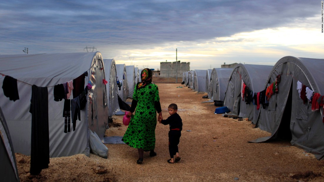 Refugee camps like this one have sprung up in the nations bordering war-ravaged Syria. The United Nations estimates nearly 5 million Syrians are now refugees.