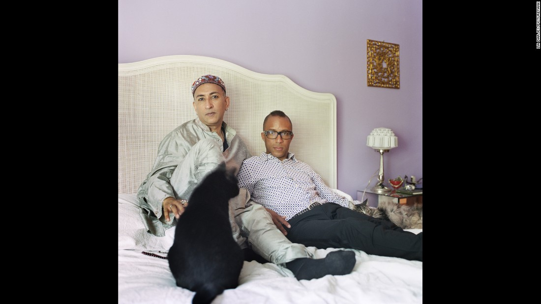 "El-Farouk -- at left with his husband, Troy, in Toronto -- said many gay people struggle with religion because they're often being told there is something wrong with them. ""I started with the notion that it was sinful (to be gay) and that those who practiced it were problematic at best,"" he told photographer Lia Darjes. ""But that didn't quite sort of seem right in the larger construct of the Quran and the Prophet that I believed to be true. ... In verse 49.13, Allah says, 'I created you to different nations and tribes and you may know and learn from each other.' I just see queer folk as one of those nations or tribes."""