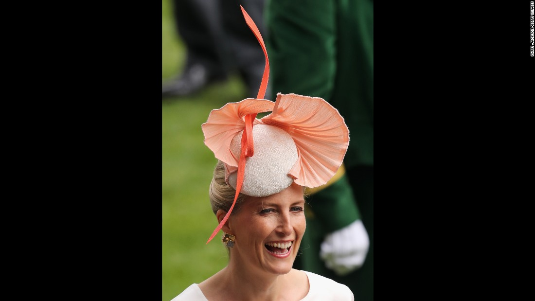 Sophie, Countess of Wessex, attends the race.