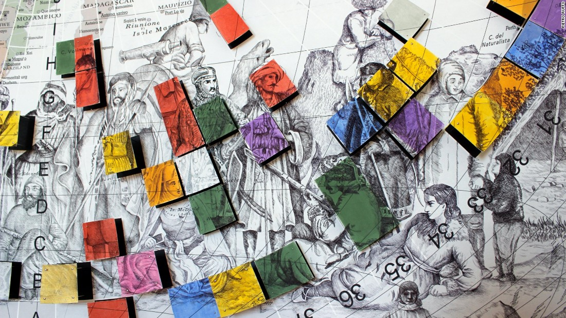 """""""The Colors of Cultural Map"""", 2015 is conceived as a large atlas of the countries of the world and the differences that unite and divide them."""