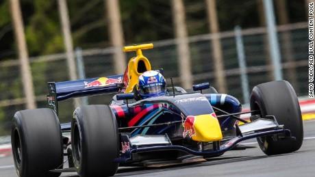 Vonn races around the Red Bull Ring in Spielberg, Austria.