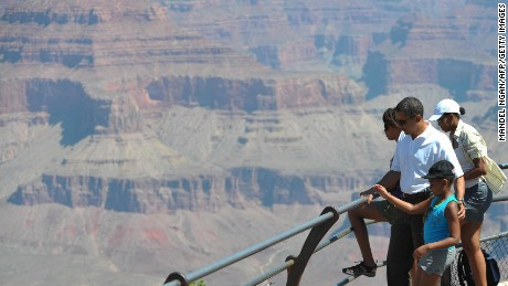 The Obamas visited the Grand Canyon in 2009.