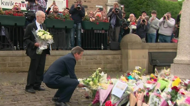 Prime Minister David Cameron pays tribute to Jo Cox