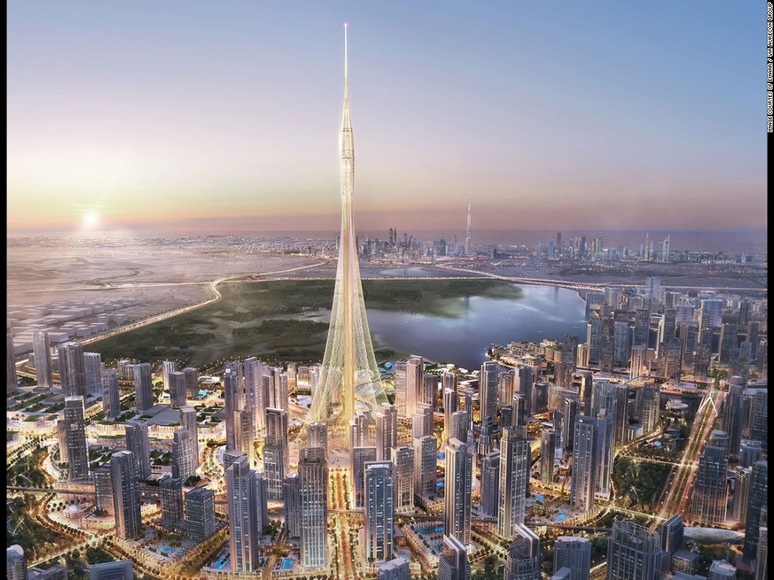 Although not yet officially named, 'The Tower' at Dubai Creek Harbour will be 100m taller than the Burj Khalifa.