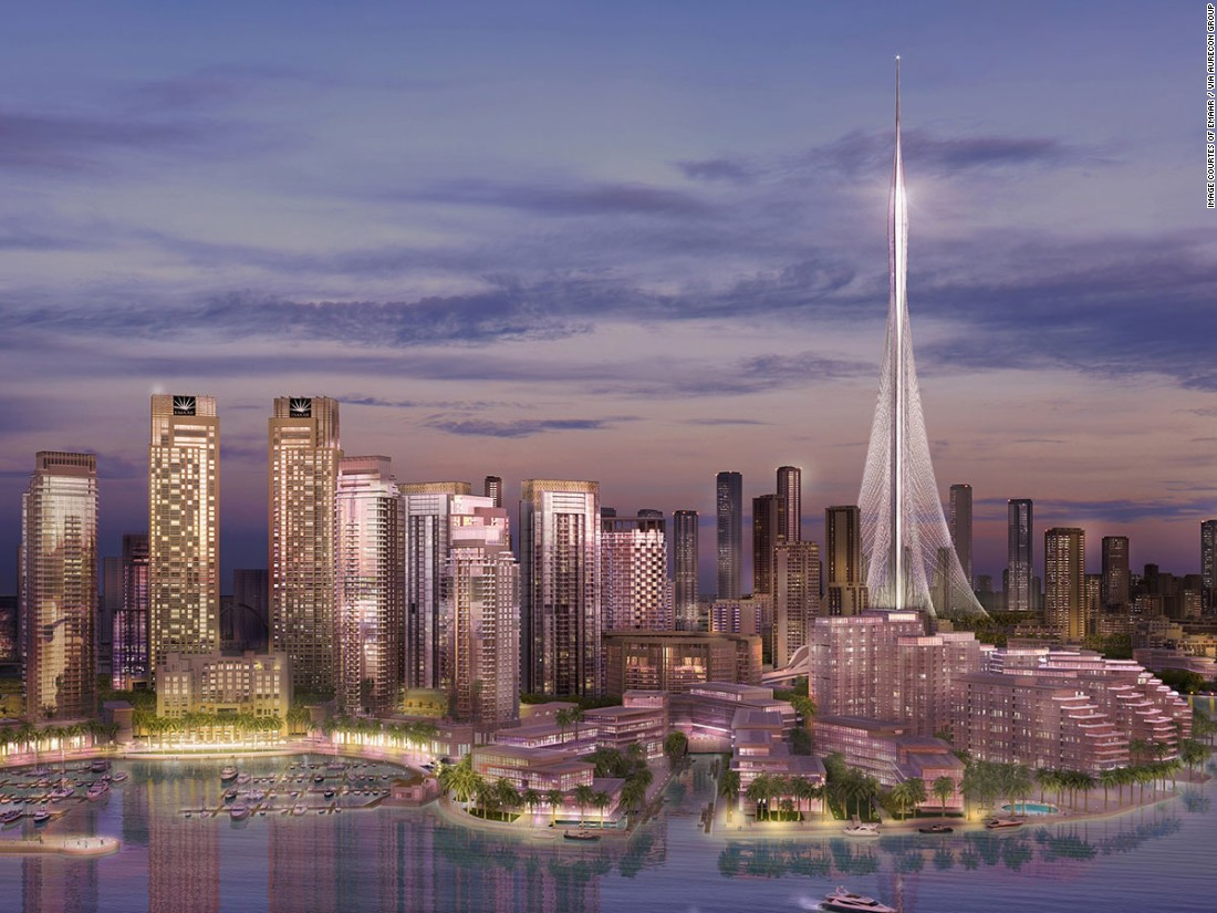 The Santiago Calatrava designed tower is expected to be completed in 2020 and will hold ten observation decks in its oval-shaped peak.