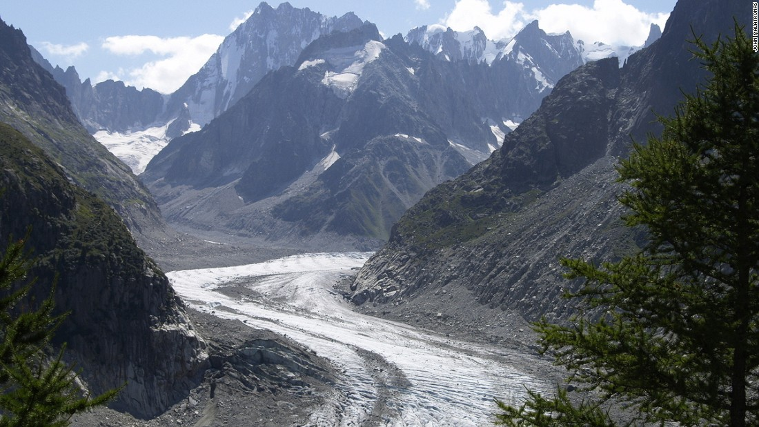 In the book, Frankenstein confronts his monster by the Mer de Glace glacier near Chamonix. <br />