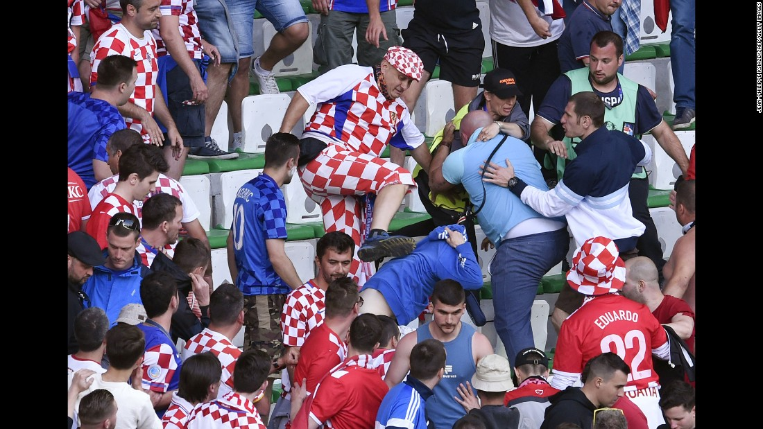 There was also fighting in the Croatia section.