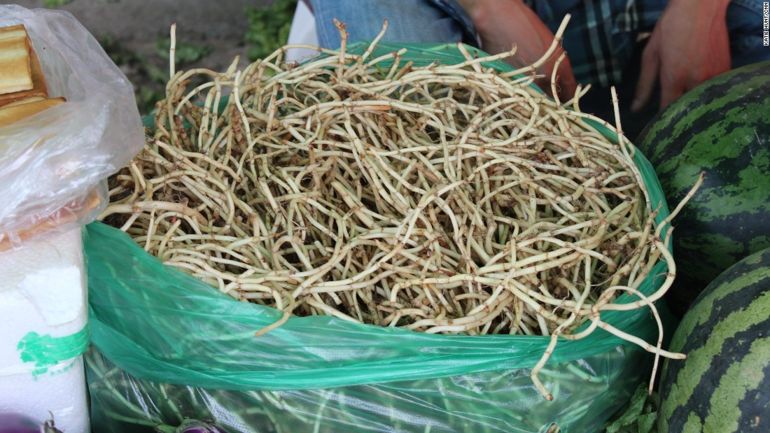 This unusual root vegetable has a lemony, medicinal tang that locals believe is good for the lungs.