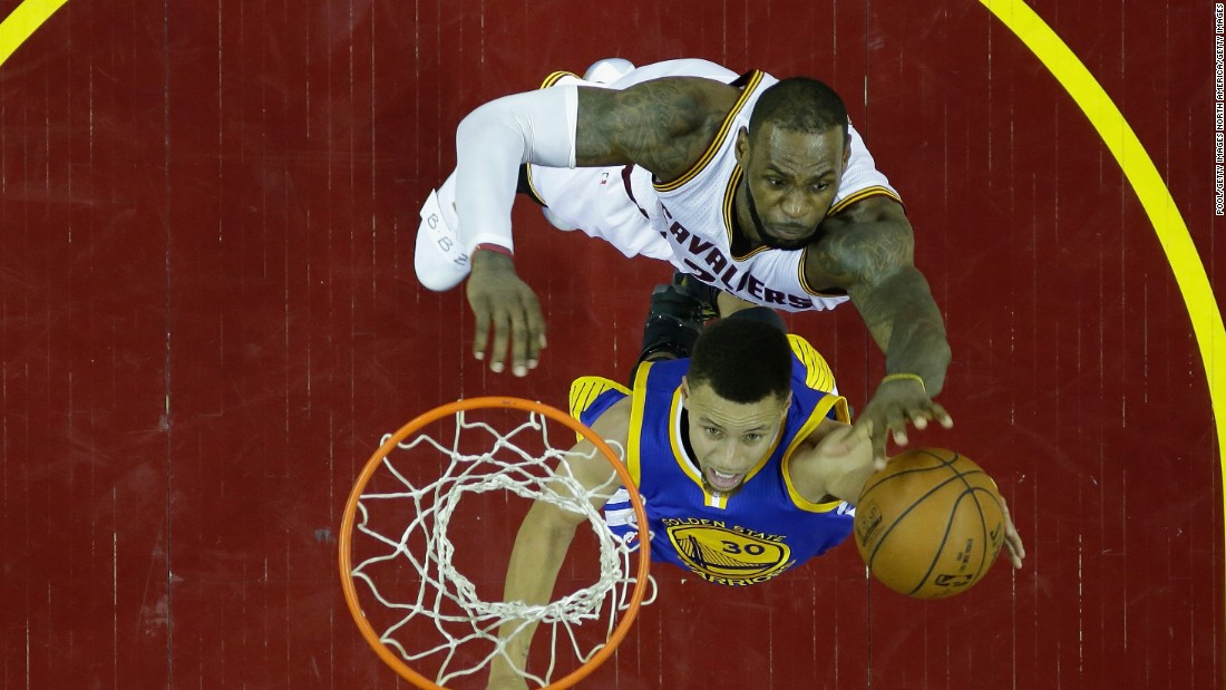 James' block of Curry in Game 6 led to a scowl from the Cav's leader after the play. Curry was later called for a foul on James, his sixth of the game, leading to an outburst and the first ejection of his career.