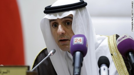 Saudi Foreign Minister Adel al-Jubeir chairs a Gulf Cooperation Council (GCC) informal summit in the Saudi Red Sea city of Jeddah on May 31, 2016.