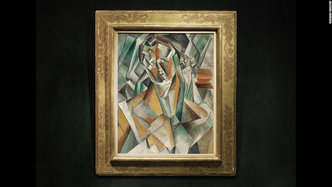 "One June 21, 2016, Pablo Picasso's ""Femme Assise,"" one of the artist's earliest Cubist paintings, sold for £43.2 million ($63.4 million) at a Sotheby's London auction, becoming the most expensive Cubist painting ever sold at auction."