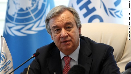 Antonio Guterres, the former U.N. high commissioner for refugees, is the front-runner to become the next secretary-general.