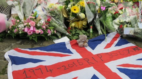 In Jo Cox's town: Market stalls, a quiet library and now flowers after an unthinkable crime