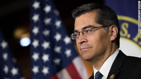 Rep. Xavier Becerra (D-CA) listens during a news conference to discuss the rhetoric of presidential candidate Donald Trump, at the U.S. Capitol, May 11, 2016, in Washington, DC.