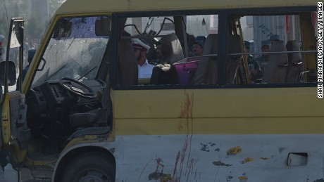 At least 14 people were killed in an attack on a bus in Kabul.