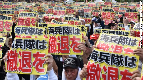 Japanese woman's murder provokes protests against U.S. bases in Okinawa