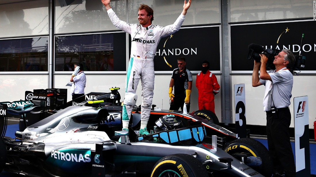 His Mercedes teammate and title rival Nico Rosberg led from start to finish to extend his championship lead to 24 points.