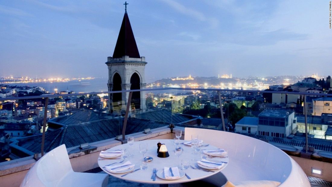 In addition to an unbeatable panoramic view and its octopus shish kebab, 360 Istanbul is also said to have some of the wildest nightlife in town.