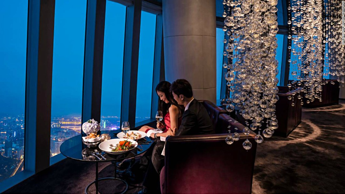 Guests that can tear themselves away from staring at Catch restaurant's 100th-story views of  Guangzhou might want to check out the open kitchen.
