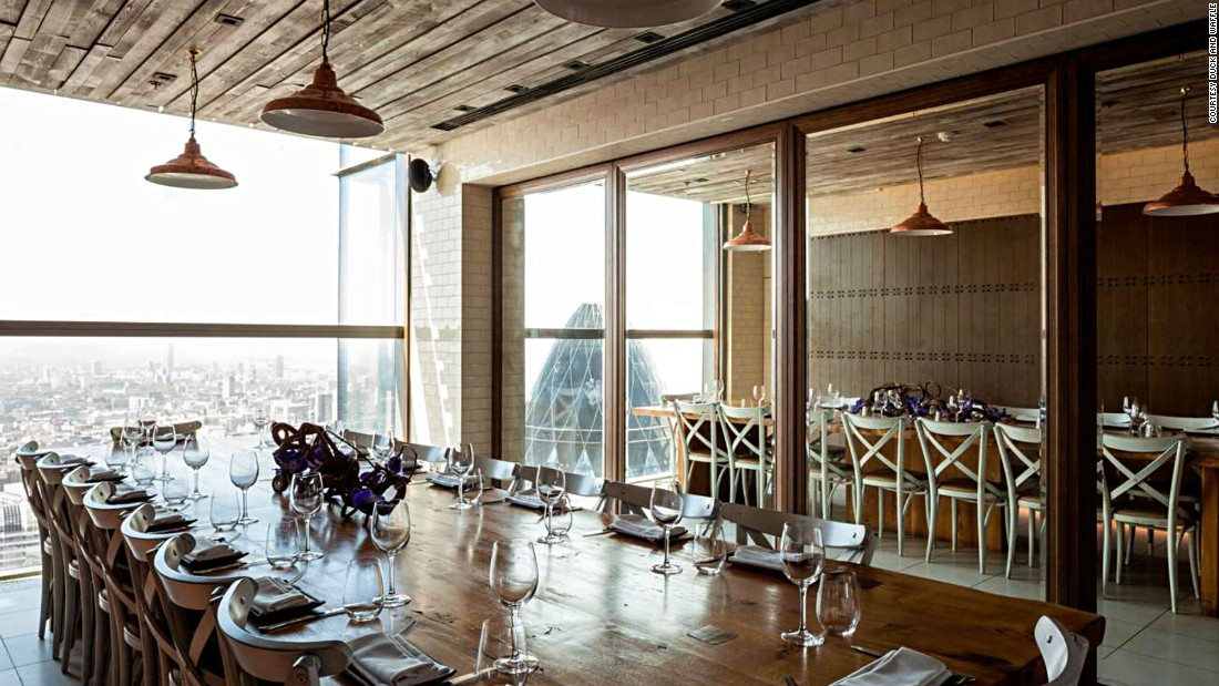 Being the highest restaurant in London, Duck and Waffle has some of the city's most hard-to-get tables. Luckily it's open for 24 hours, so there are more time slots to book.