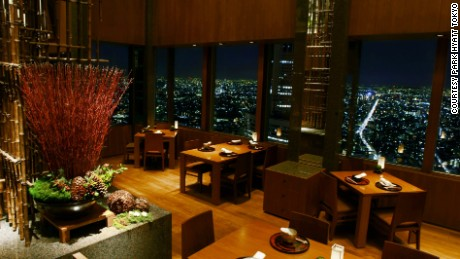 Park Hyatt Tokyo's bar may be more famous, but its fine-dining restaurant shares the same great views.