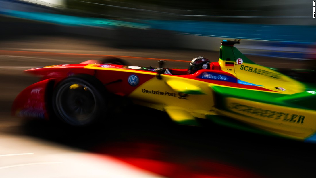 ABT Schaeffler driver Daniel Abt snapped on track during the 2015-16 season. Gohil combines his work on the Formula E calendar with a job as a wedding photographer.