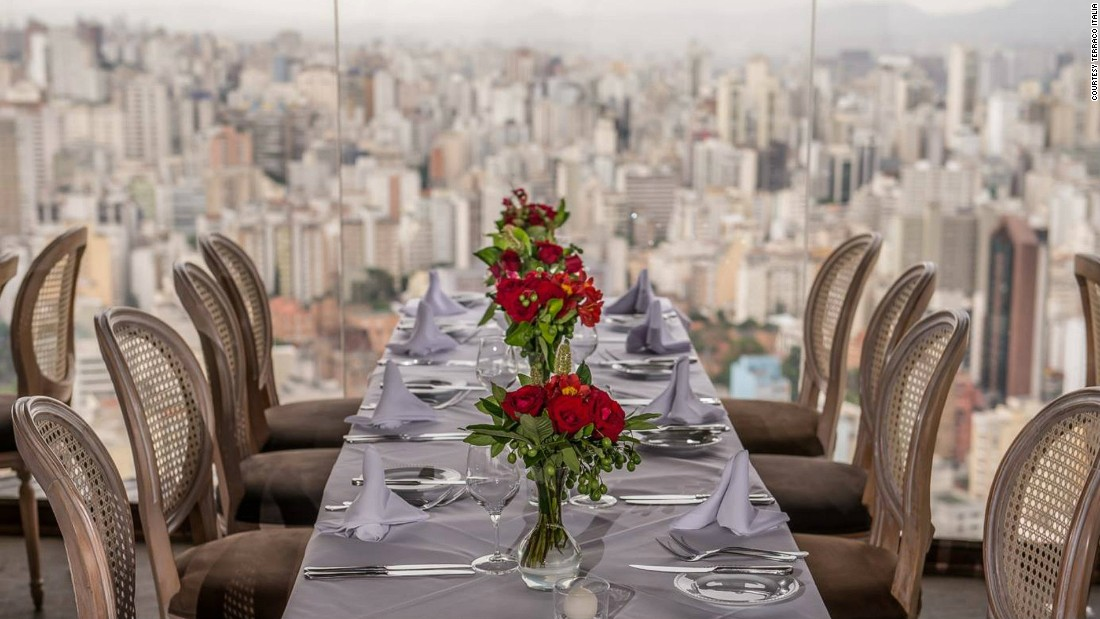 Sitting on the 42nd floor of Edifício Italia, the third highest building in Brazil, Terraco Italia dishes out classic Italian flavors, including freshly made ravioli.
