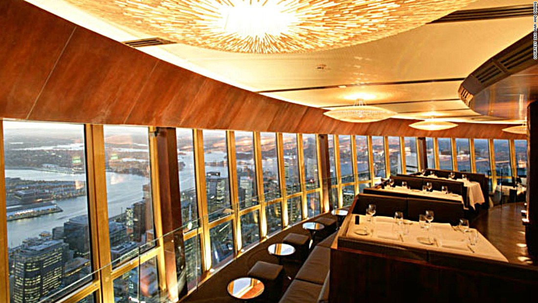 360 Bar and Dining's rotating restaurant has a focus on contemporary Australian cooking and ingredients, like blue mussels, Sydney rock oysters and Queensland kobe beef.