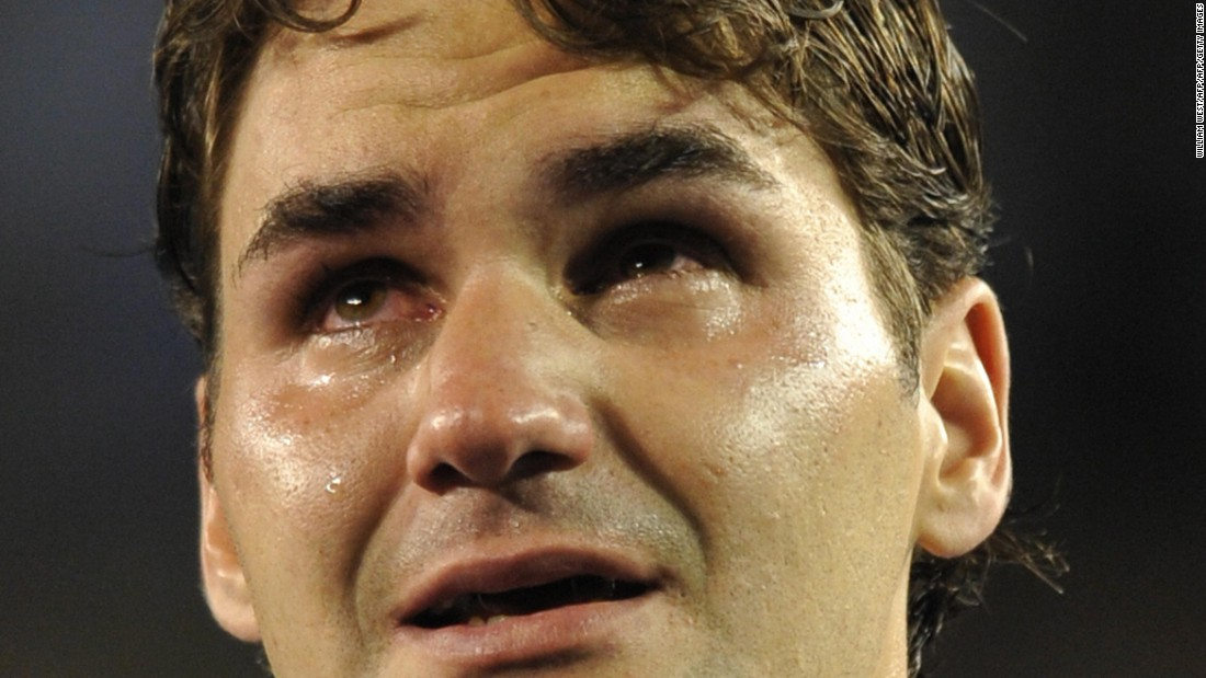 Crying became de rigueur after long drawn out five-setters in grand slam finals around the time Roger Federer broke down after defeat in his men's singles final against Rafael Nadal at the Australian Open in 2009.  Nadal won the classic 7-5, 3-6, 7-6 (7/3), 3-6, 6-2 to secure his first hard-court grand slam and stop the Swiss equaling the all-time majors record.