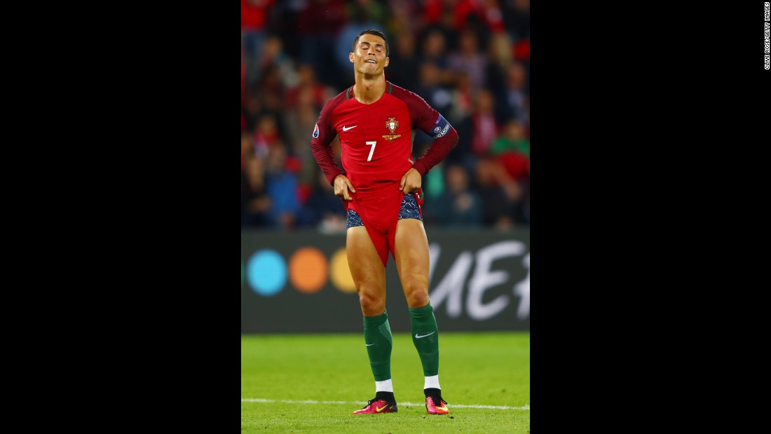 "Portugal star Cristiano Ronaldo reacts after missing a penalty against Austria on Saturday, June 18. The match ended 0-0 in Paris. <a href=""http://www.cnn.com/specials/sport/football/euro2016"" target=""_blank"">See full coverage of Euro 2016</a>"
