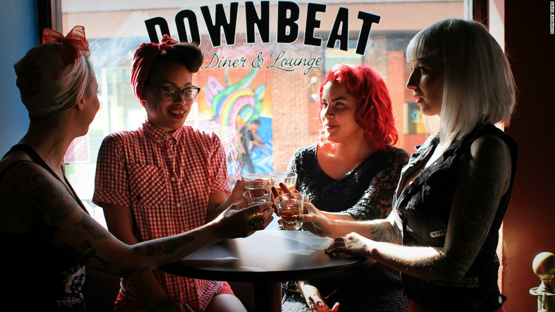 Hip hangout Downbeat Diner draws vegan supporters with its plentiful vegan options, live art shows and cool decor.