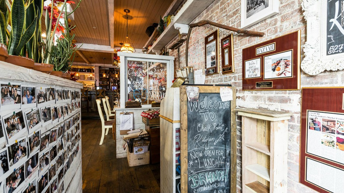 Many of the Big Apple's hottest vegan destinations, including Chalk Point Kitchen (pictured here), have become favorite spots for celebrities and savvy New Yorkers.